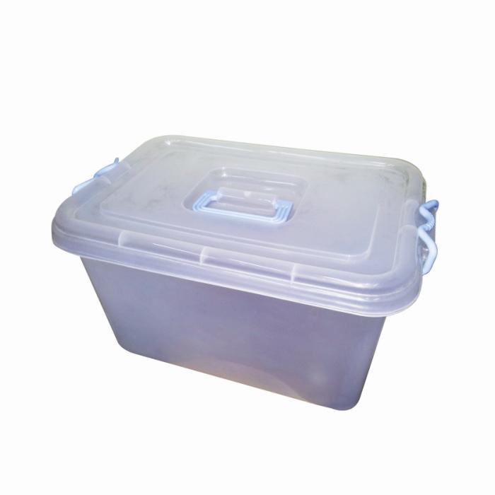 Caja plastica trasparente con ruedas juguetr a plastolit for Cajas plasticas con ruedas
